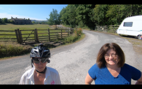 UK - Hapton Farm, we stayed with the lovely Val, I think we inspired her to get a bike!