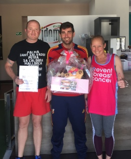 Spain - our trainer helping us to fundraise