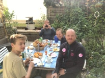 Germany - a lovely family we stayed with in Mainz
