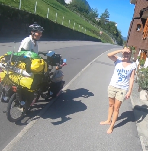 Switzerland - We stayed with this lovely lady and her husband next to the lake