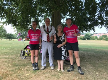 UK - Great Dunmow Mayor and Mayoress Barrie and Margaret Easter