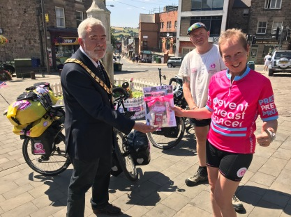 UK - Belper Mayor Tim Sutton, we met Tim at the start of our tour, 3 months earlier he had lost his wife to breast cancer, an inspirational man, a true gentleman.