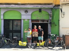 Spain - our friend Greg in Malaga , Greg helped us with our bikes