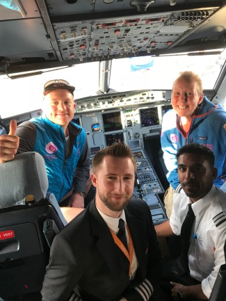 Spain - some of the crew that we regularly flew with to the uk and Spain with every 3 weeks whilst Gabs was finishing treatment