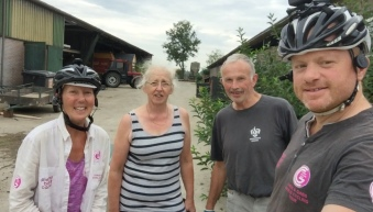 Netherlands - lovely family we stayed with at Bassa Dairy Farm
