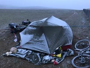 tent frozen